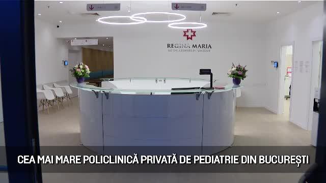 (P) Regina Maria a inaugurat cea mai mare policlinică privată de pediatrie din București