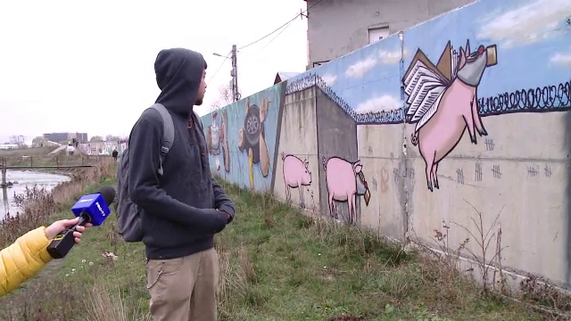 Banksy de România. Cum au ales să protesteze tinerii împotriva lipsei infrastructurii