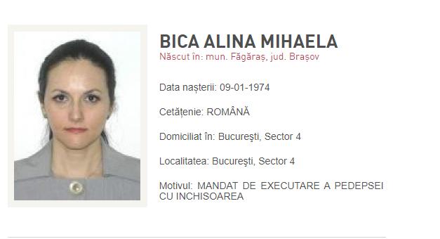Ministrul Justiției, informații despre locul în care s-ar afla Alina Bica
