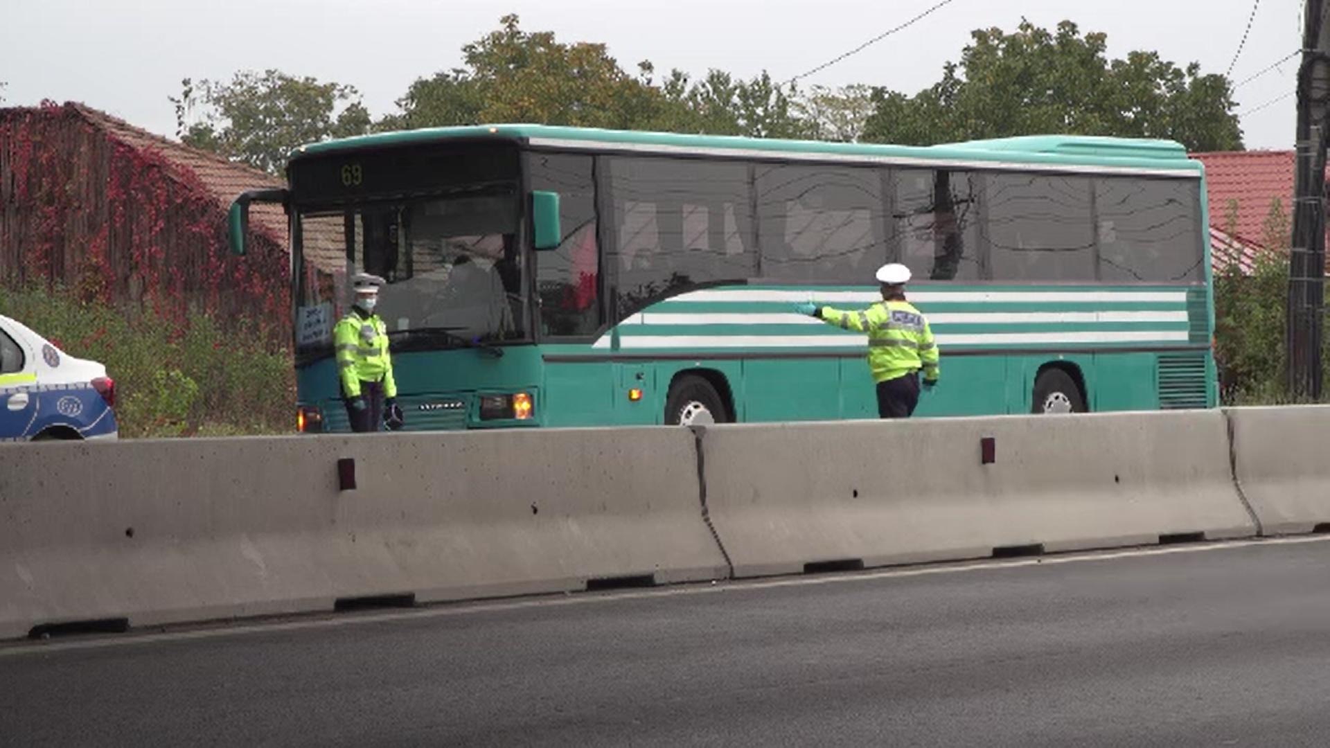 Controale ale Poliţiei la nivel național pentru respectarea purtării măștii în mijloacele de transport în comun