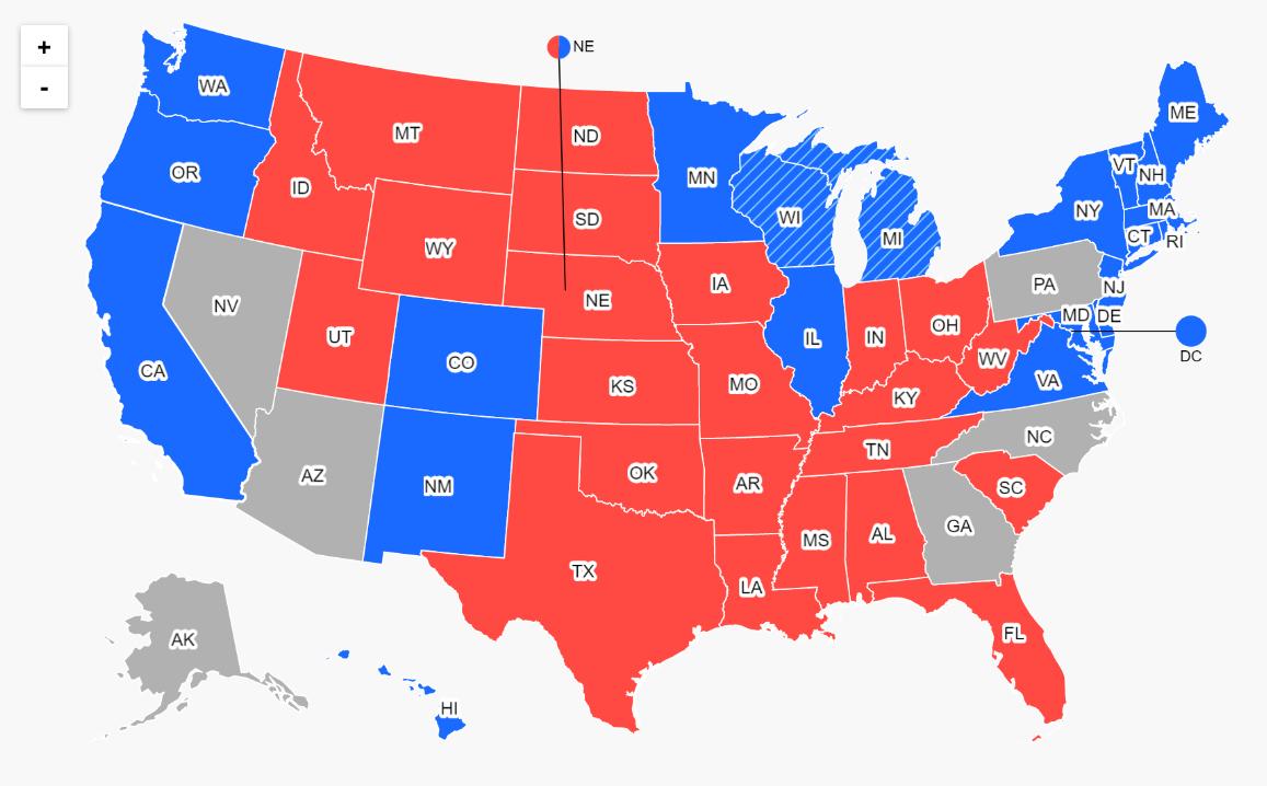 Rezultate alegeri SUA, Donald Trump vs. Joe Biden. Cele șase state care vor decide viitorul președinte