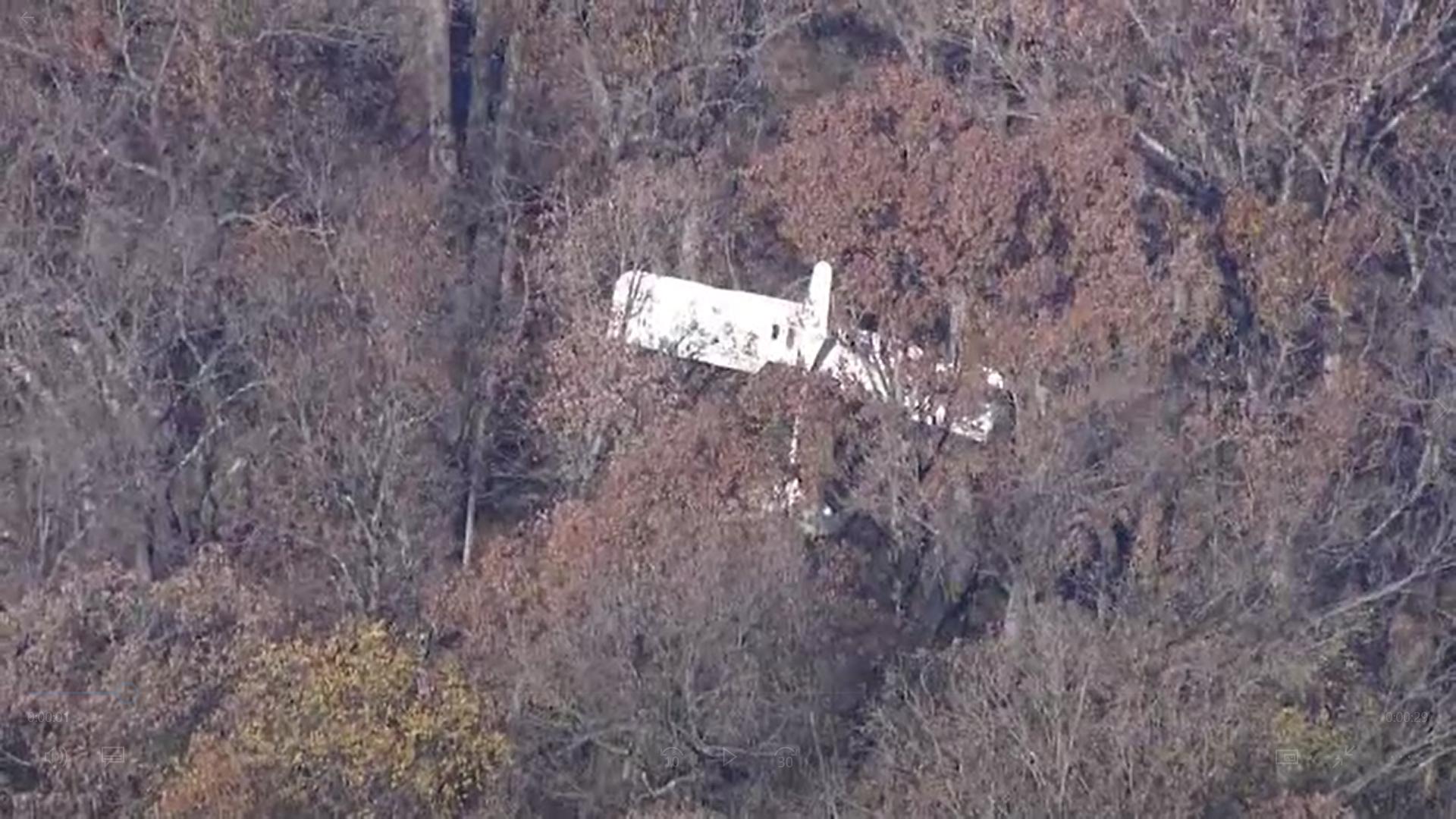 Un pilot din Missouri, SUA, a aterizat forțat cu avionul într-un copac