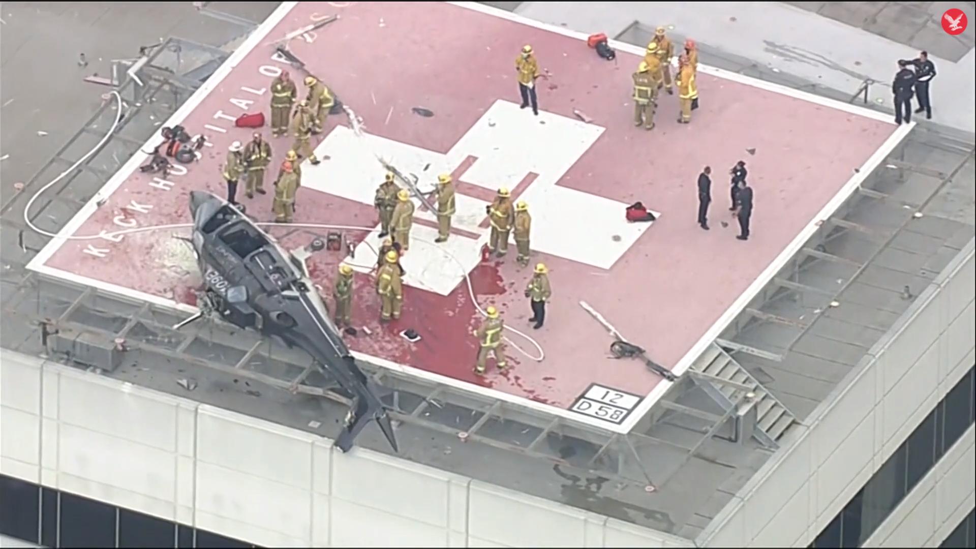 Un elicopter care transporta o inimă pentru transplant s-a părbușit pe acoperișul spitalului