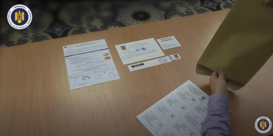Cum se votează prin corespondență. Ghid video, trimis alegătorilor români din străinătate