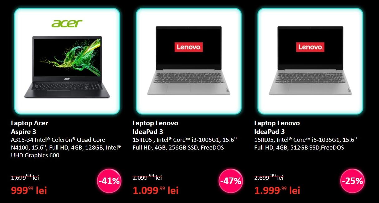 Reduceri uriașe de Black Friday. Laptop Acer la 999 de lei, redus cu 45%. Vezi cele mai bune oferte