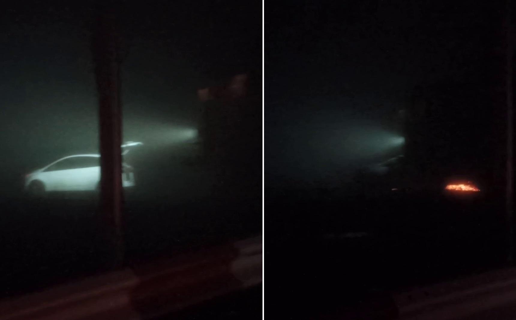 Momentul în care o mașină este lovită de tren, la Fetești. Pasagerii au reușit să se salveze în ultima clipă