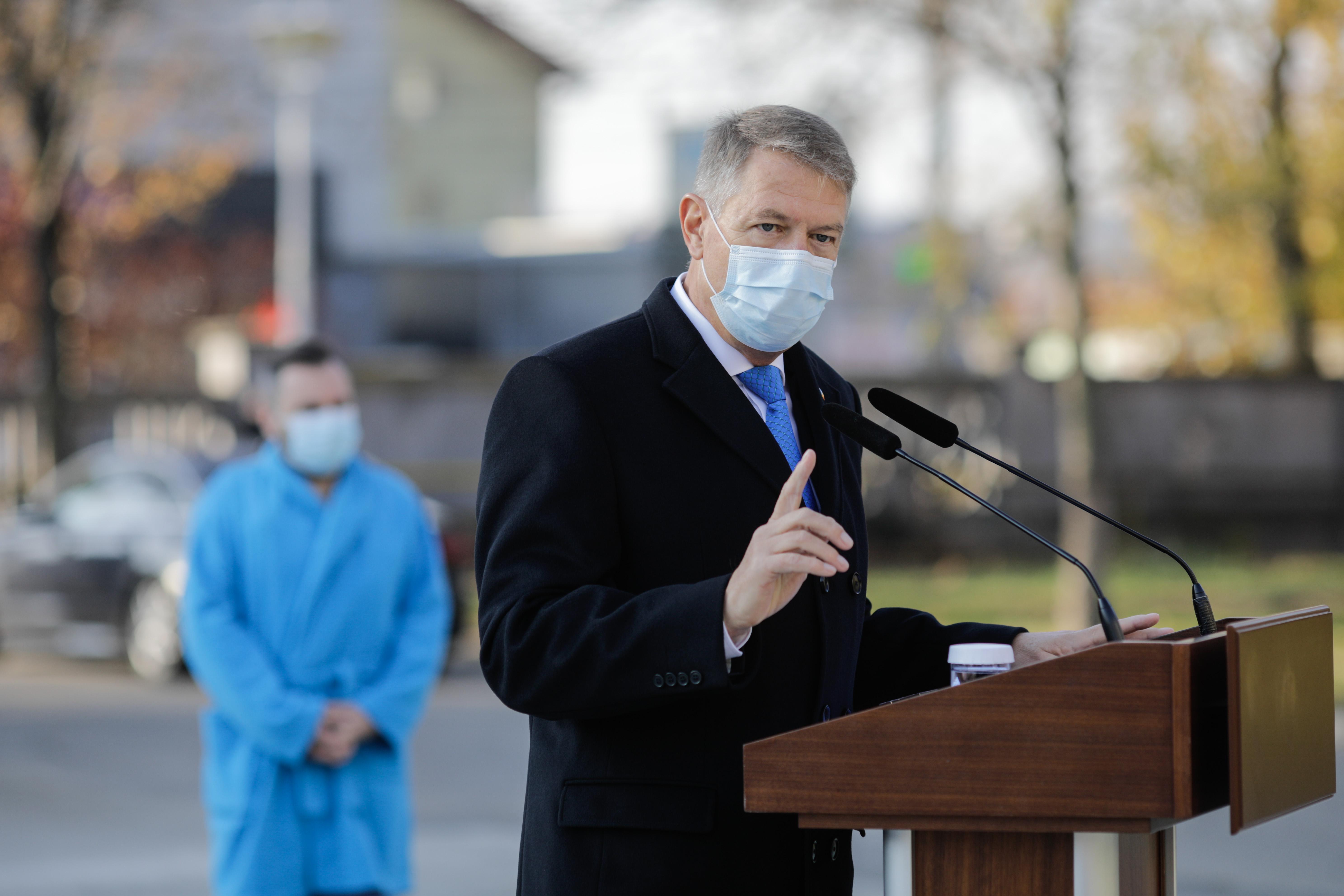 """Klaus Iohannis: """"Strategia de vaccinare anti Covid va fi supusă aprobării în CSAT"""""""