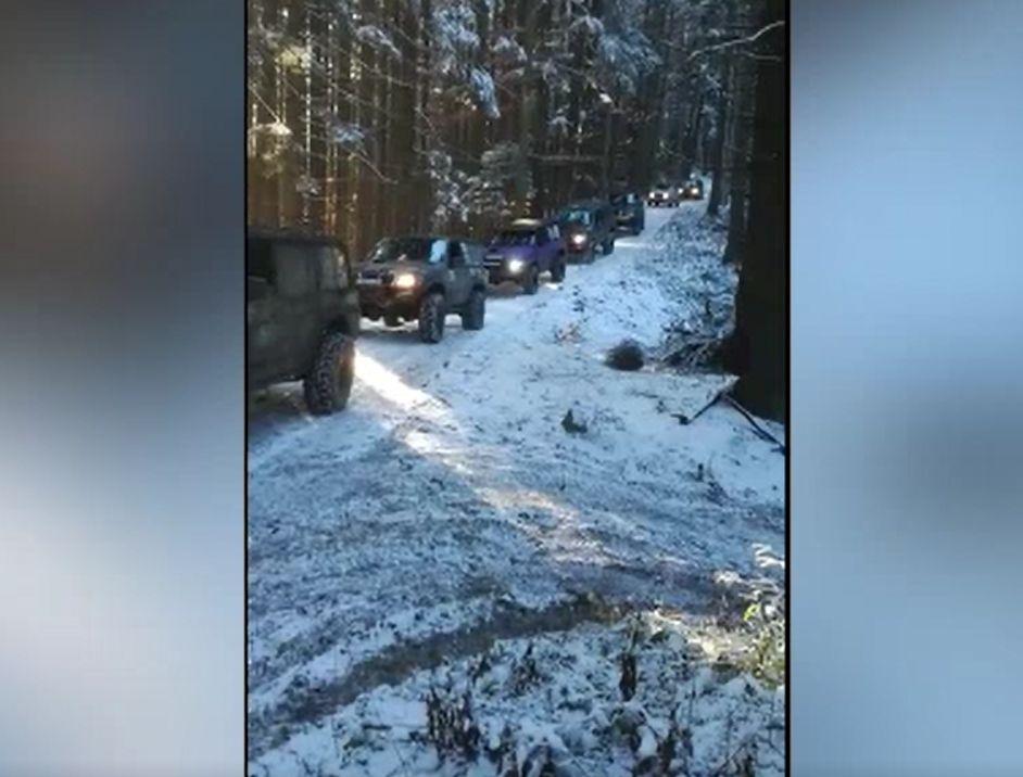 Escapadă off-road, oprită de jandarmi în pădurile din jurul stațiunii Predeal