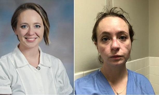 Cum arată o asistentă după ce a lucrat 8 luni într-un spital Covid-19