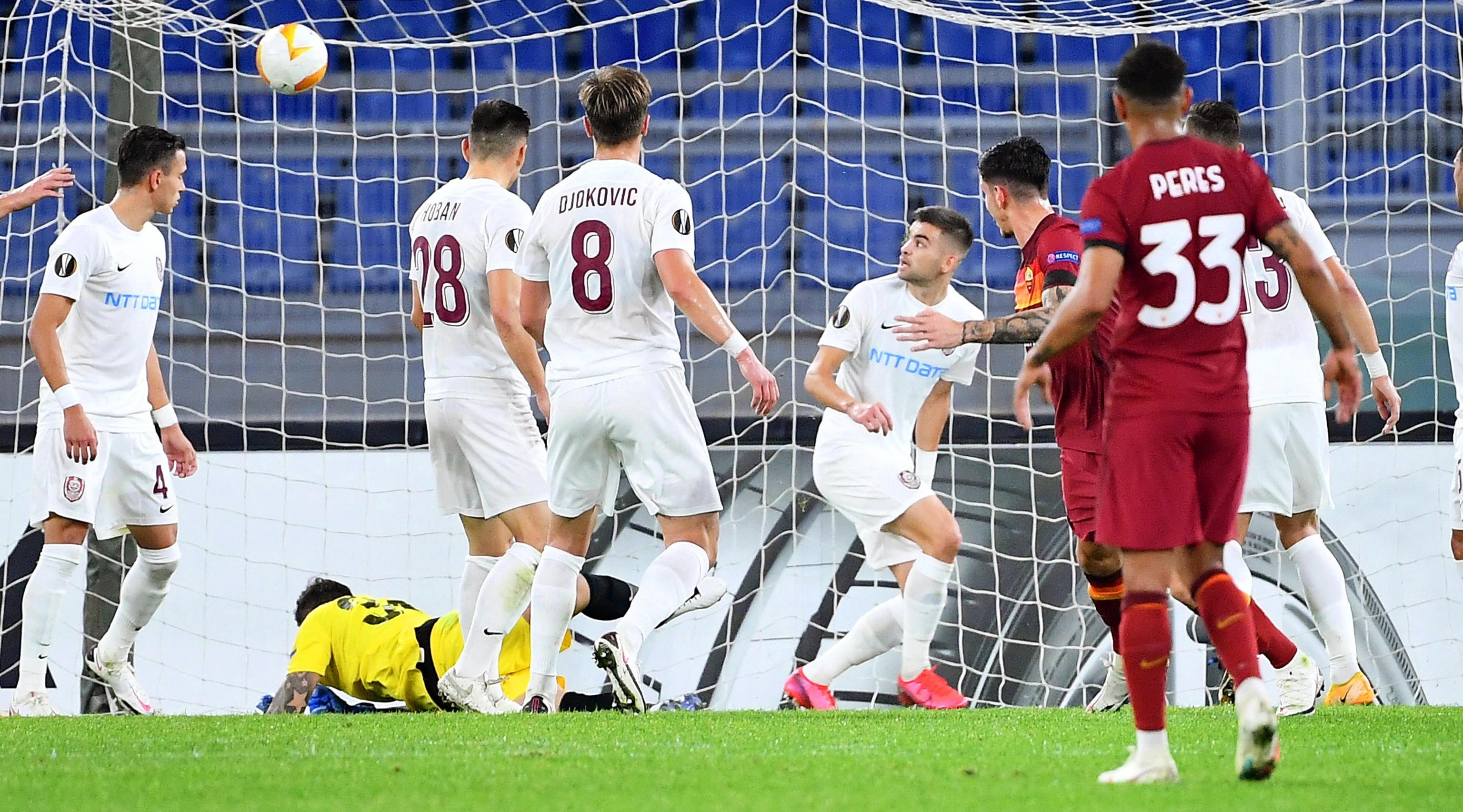 CFR Cluj a pierdut şi meciul de acasă cu AS Roma, scor 0-2. Clujenii se îndepărtează de primăvara europeană