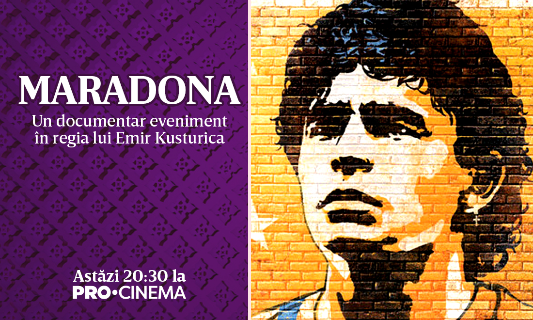 Maradona, documentar eveniment în regia lui Emir Kusturica, vineri seară, la Pro Cinema