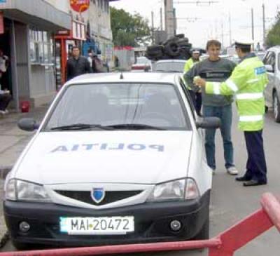 Urmarire ca in filme - politistii au prins un sofer fara permis, recidivist