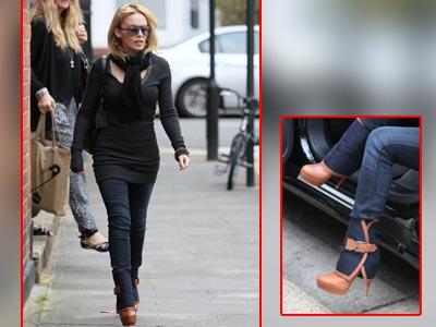 Kylie Minogue, in sexy-ghetute pe strazile Londrei