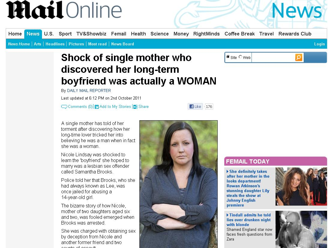 O femeie a trait 5 ani alaturi de o lesbiana care a reusit sa o pacaleasca ca este barbat