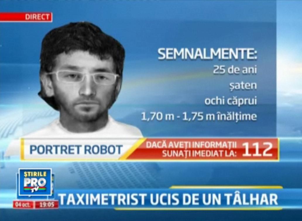 VIDEO. Portretul robot al barbatului care i-a taiat gatul unui taximetrist in Capitala