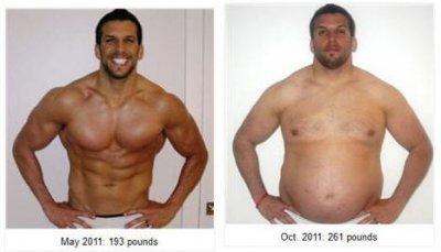 Si-a transformat trupul de zeu intr-unul de luptator de sumo dintr-un motiv incredibil