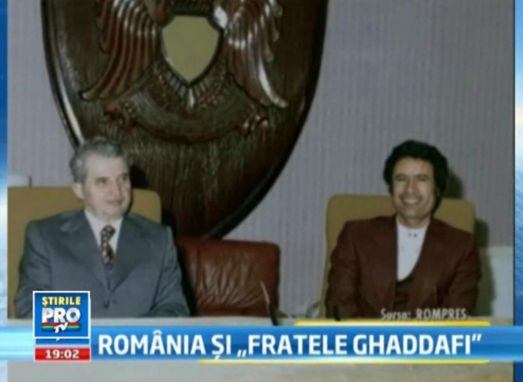 Ghaddafi a cautat tineretea fara batranete in Romania. Era tratat ca un sultan cand venea in vizita