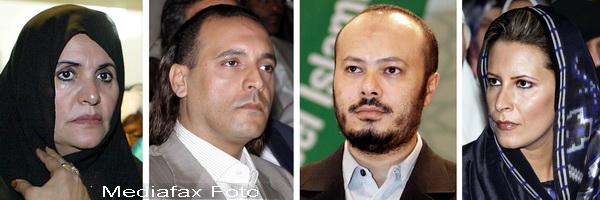 Soarta membrilor familiei lui Muammar Ghaddafi, dupa incidentele din Libia