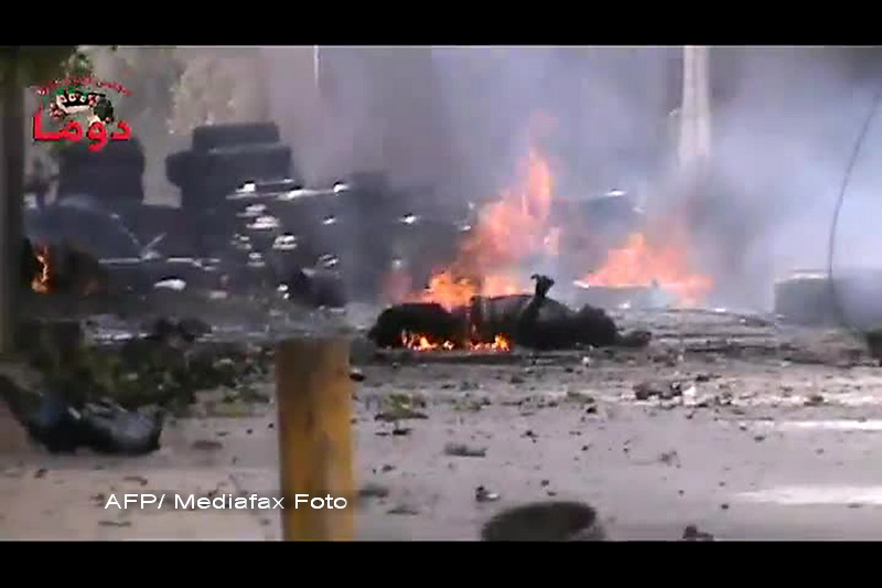 Cel putin 123 de oameni au fost ucisi joi in Siria, dupa bombardamente ale armatei