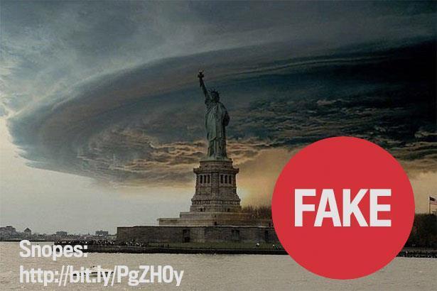 Imaginile false cu uraganul Sandy din New York care au