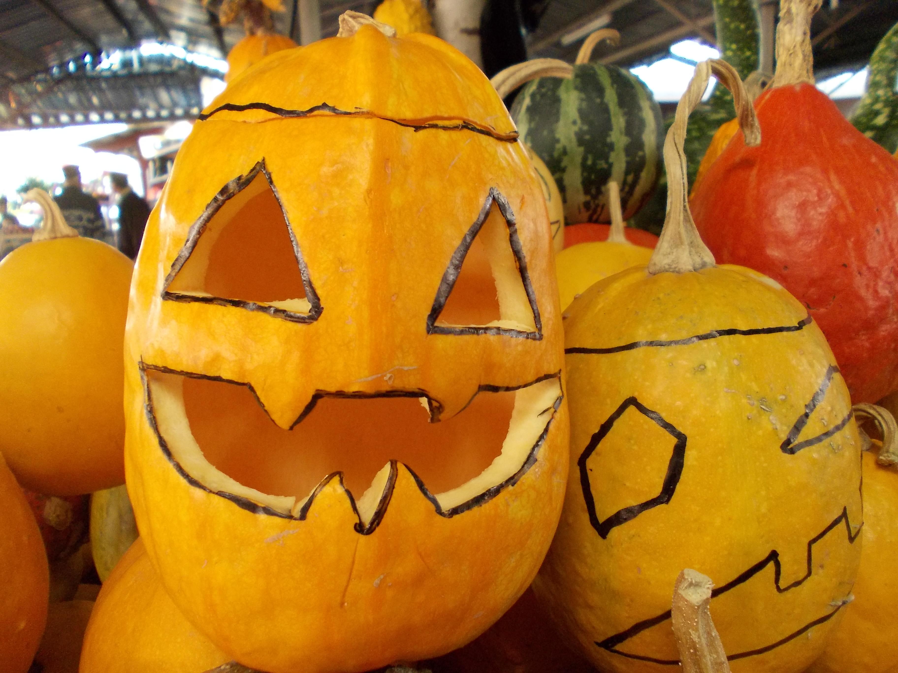 Dovleci pregatiti pentru noaptea de Halloween in pietele din Timisoara. Vezi galerie FOTO