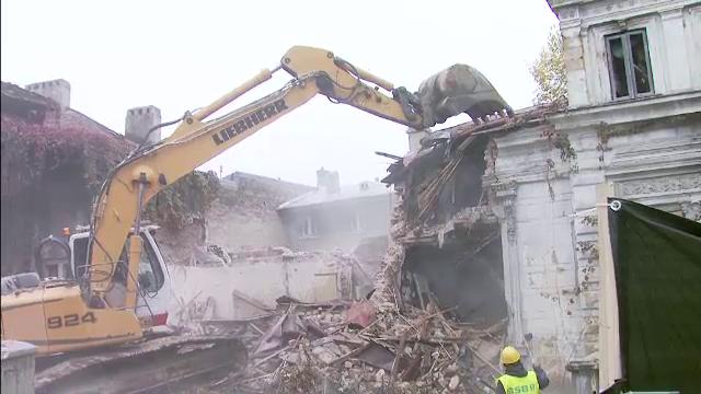 Demolari cu scandal in zona Piata Amzei din Capitala.
