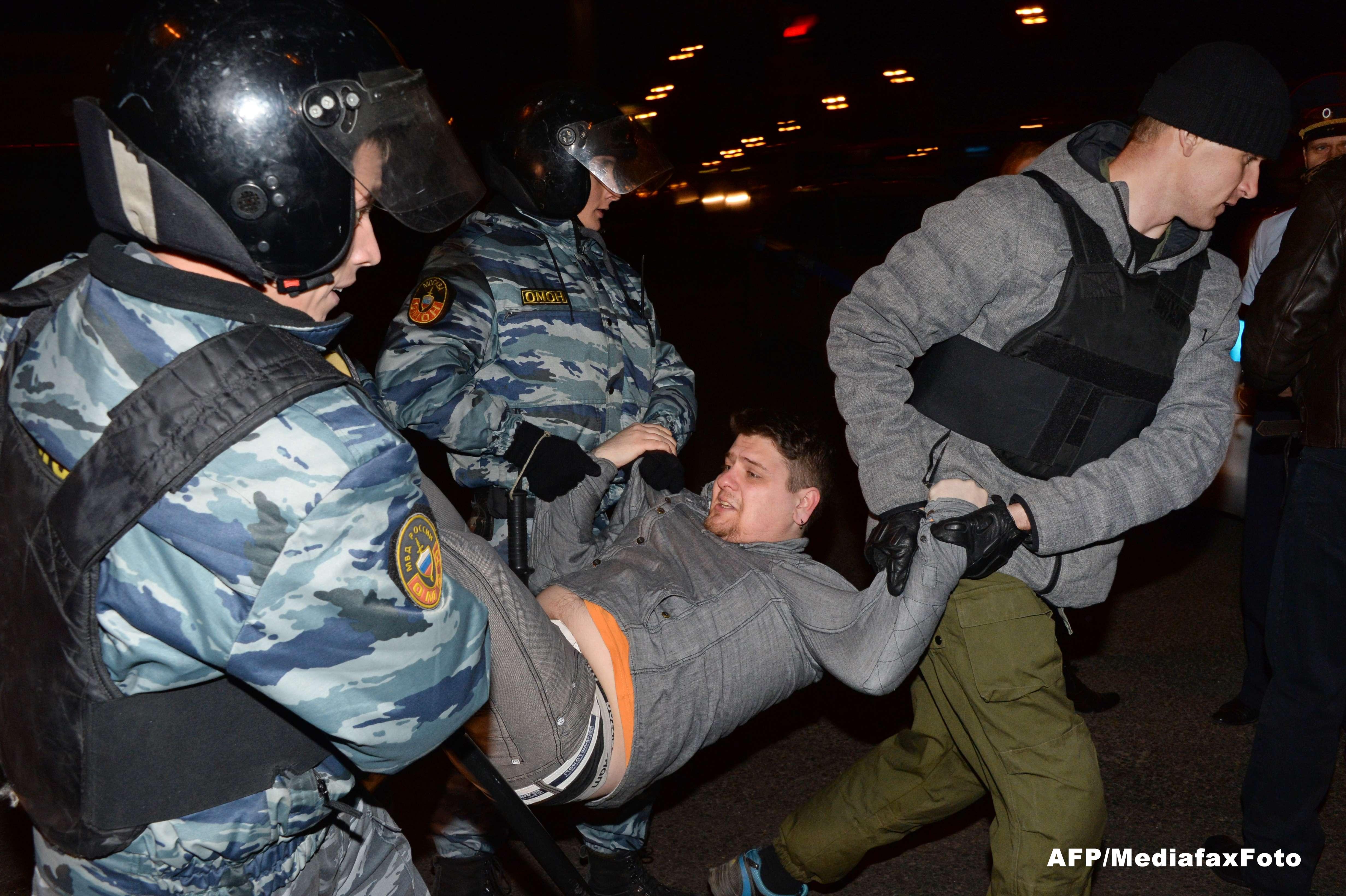 Moscova furioasa. Mii de oameni au protestat dupa uciderea unui rus de catre un posibil imigrant