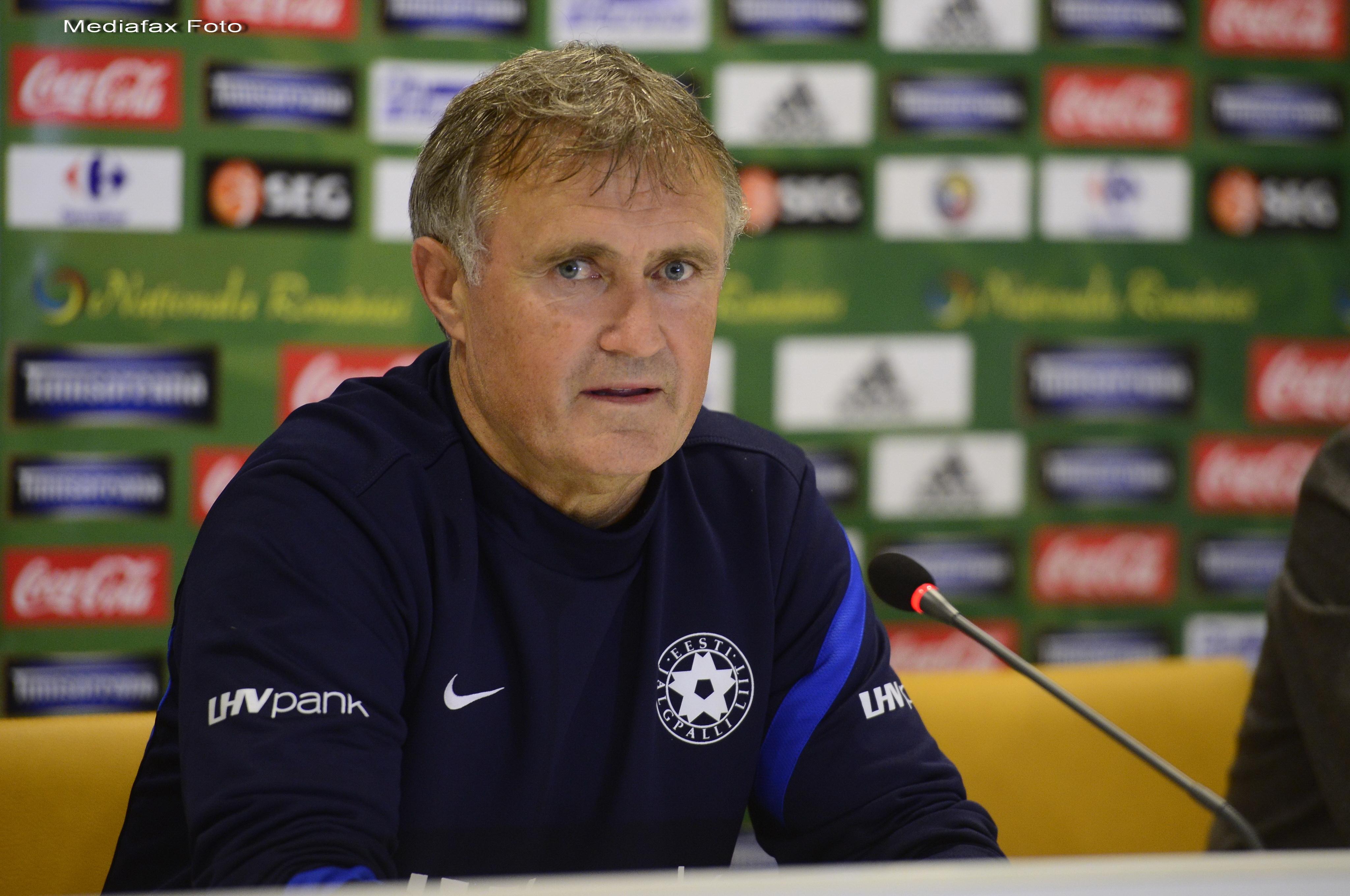 ROMANIA - ESTONIA 2-0. Selectionerul Estoniei: Romania are sanse la barajul de calificare