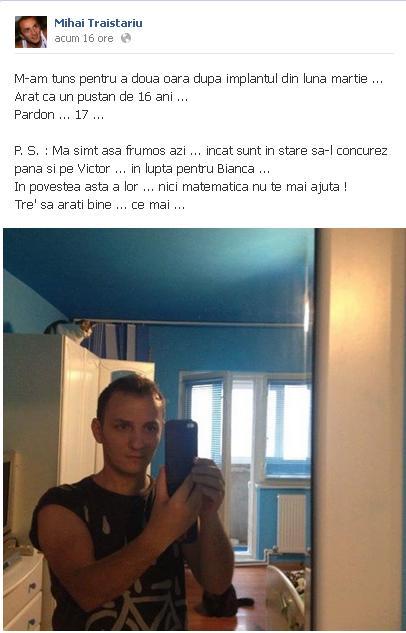 Declaratia lui Mihai Trastariu despre Bianca Dragusanu. Ce a postat artistul pe Facebook