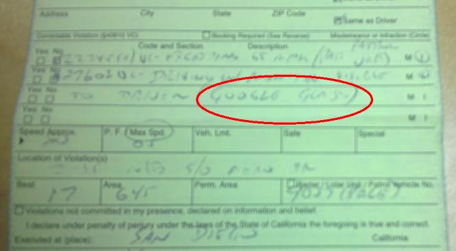 Pentru ce a luat amenda o femeie din San Diego. Ce i-a scris politistul in procesul verbal