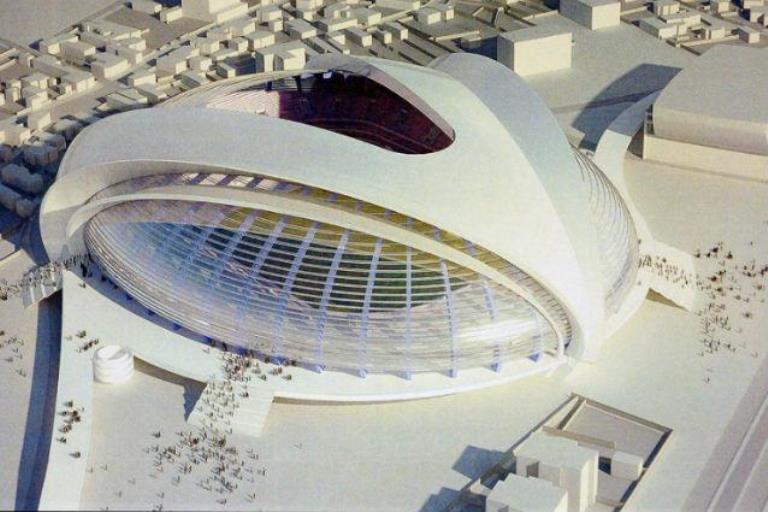 Romania, campioana mondiala a fotbalului fabricat in Photoshop. Stadioanele de hartie de 100 mil euro