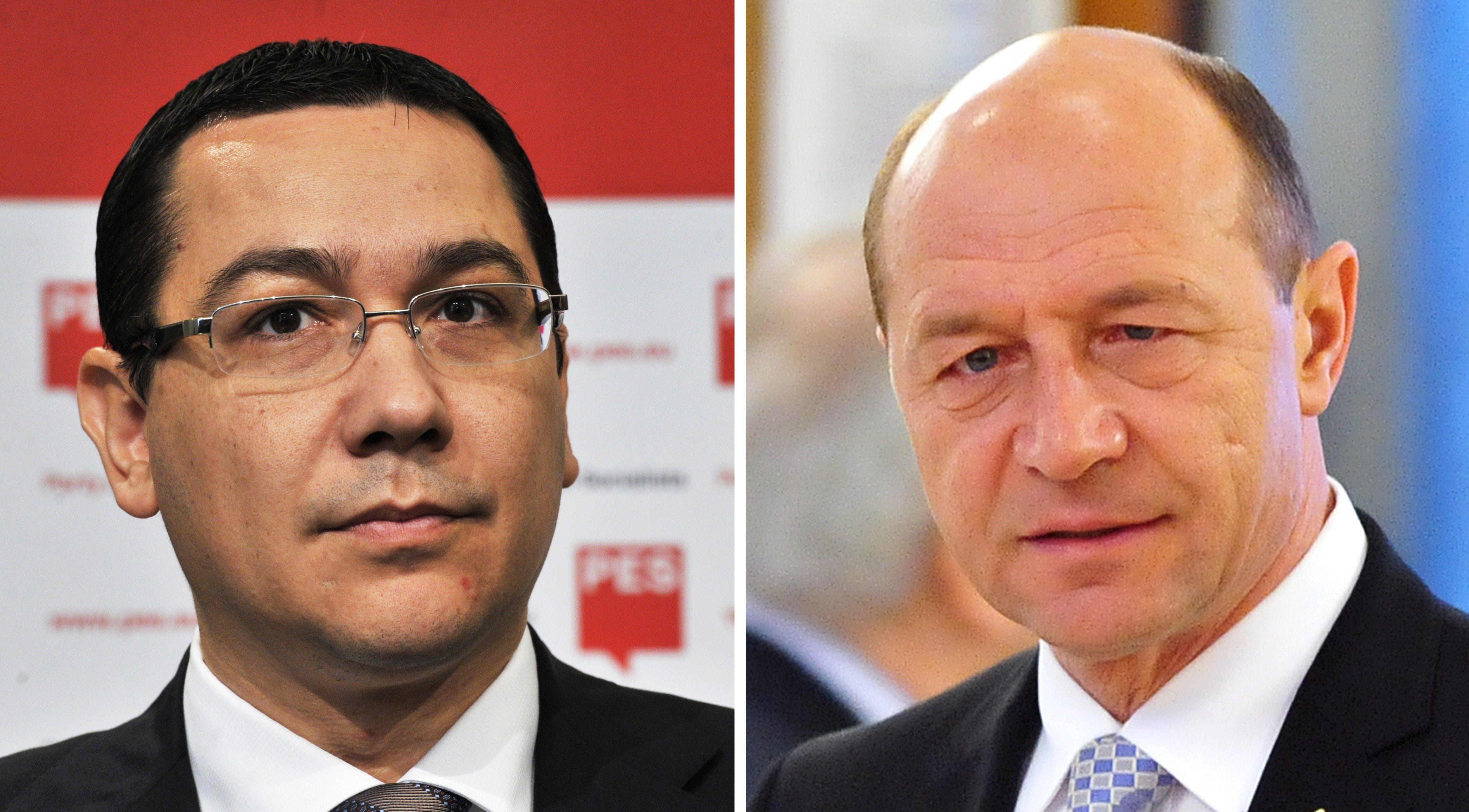 Traian Basescu si Victor Ponta au participat la ceremoniile de Ziua Armatei. Presedintele a refuzat sa dea mana cu premierul