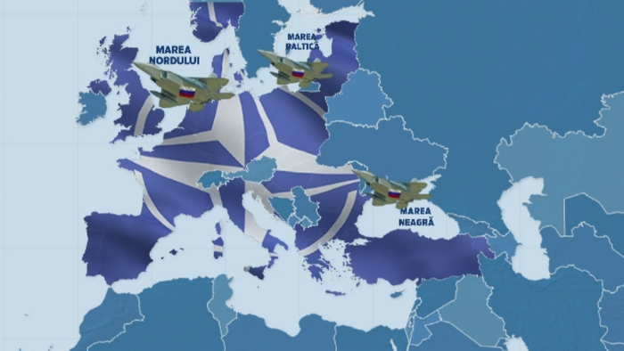 NATO este in alerta. Aproape 20 de avioane militare ale Rusiei au intrat in spatiul aerian european