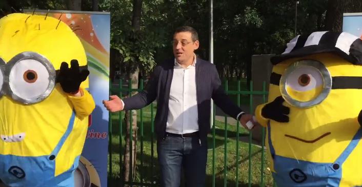 ALEGERI LOCALE 2016. Candidatul PSD la primaria sectorului 6, Gabriel Mutu, isi face reclama cu minioni. VIDEO