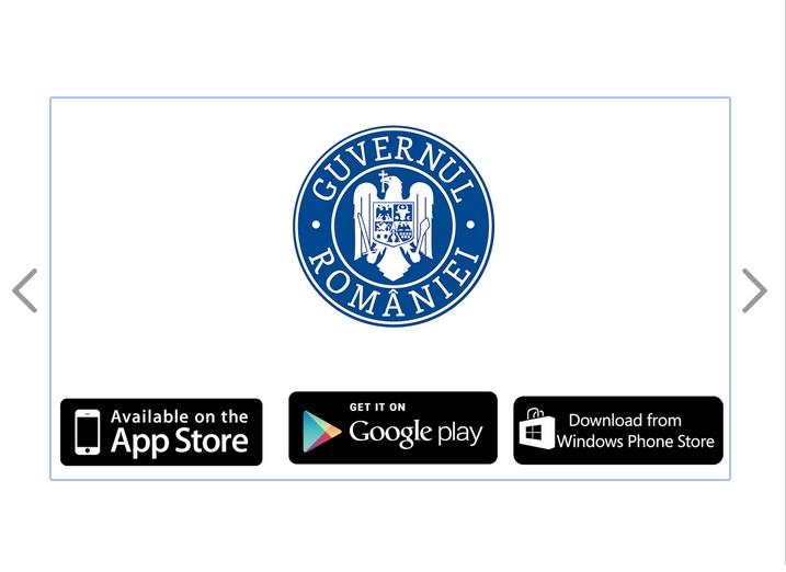 Guvernul Romaniei a lansat o aplicatie mobila pentru Android, iOS si Windows Phone
