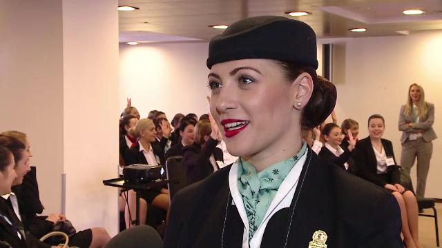 Companiile aeriene din Orientul Mijlociu vin in Romania pentru a angaja stewardese. Ce salariu ofera inca din prima luna