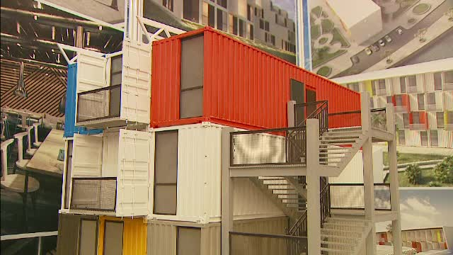 Cat costa o garsoniera sau un apartament de 4 camere intr-un loc construit din containere. Casa poate fi gata in cateva zile
