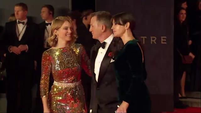 SPECTRE, noul film cu James Bond, a avut premiera la Londra. Ducele si ducesa de Cambridge, printre invitatii de onoare