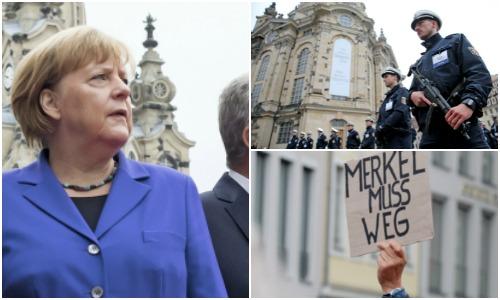 Angela Merkel, huiduita si insultata de membri PEGIDA la Dresda: