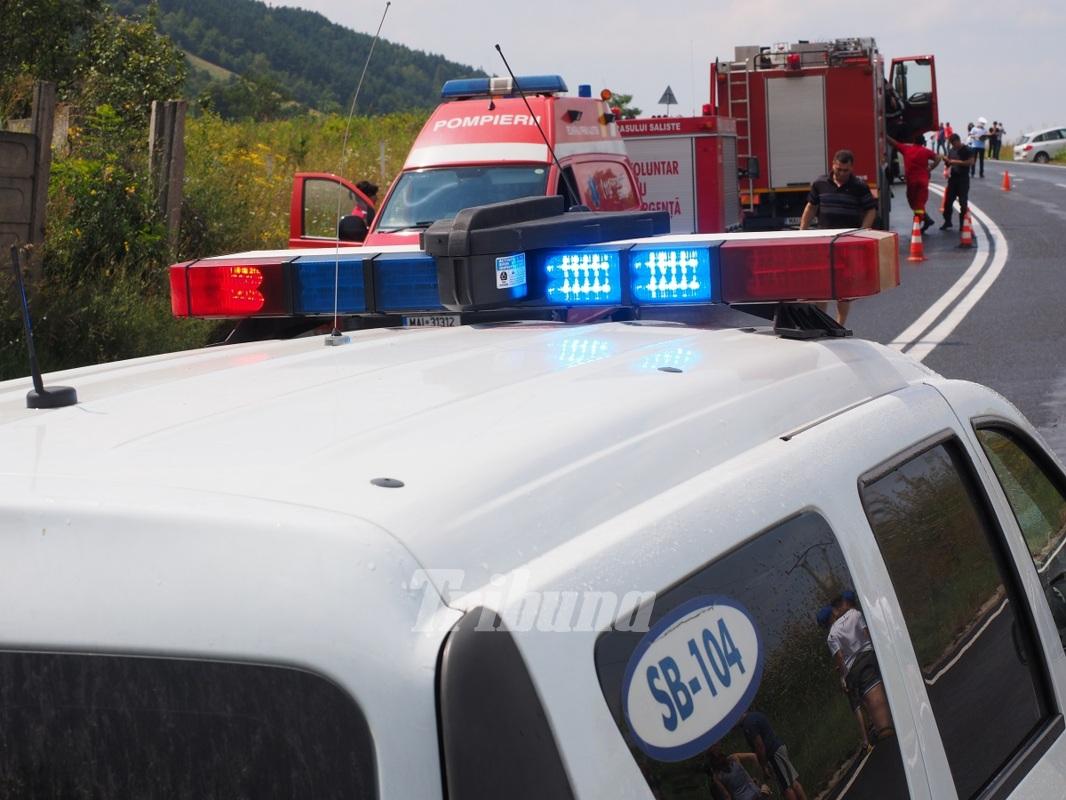 Accident grav in Salaj: noua persoane au fost transportate la spital. Autoritatile au activat planul rosu de interventie