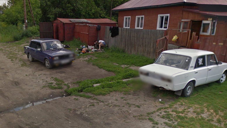 O familie de rusi beti a devenit celebra din cauza Google Street View.