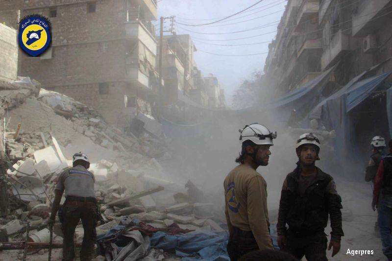 Cel putin 84 de persoane, printre care si copii, ucise in bombardamentele din ultimele zile din Alep. Anuntul armatei