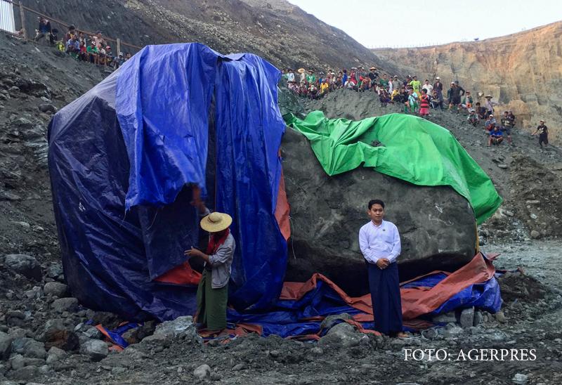 Piatra pretioasa de 175 de TONE, descoperita in Myanmar. Ce valoare are