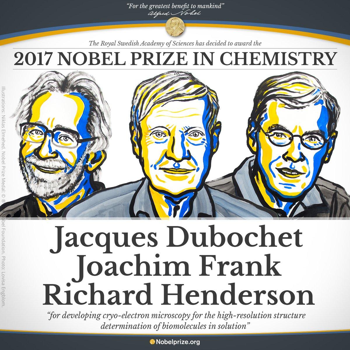 Premiul Nobel pentru Chimie 2017, câștigat de 3 cercetători pentru dezvoltarea crio-microscopiei electronice