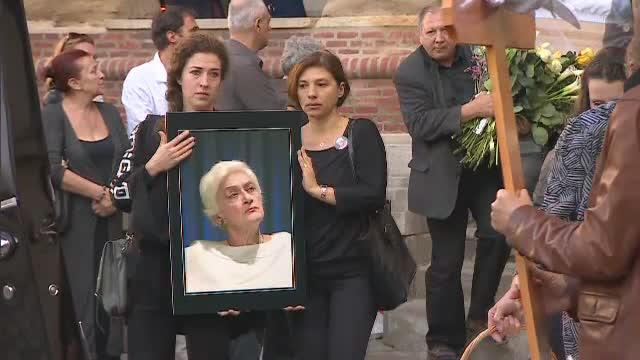 """Olga Tudorache, înmormântată la Cimitirul Bellu. """"A plecat fizic, dar va rămâne în istorie"""""""