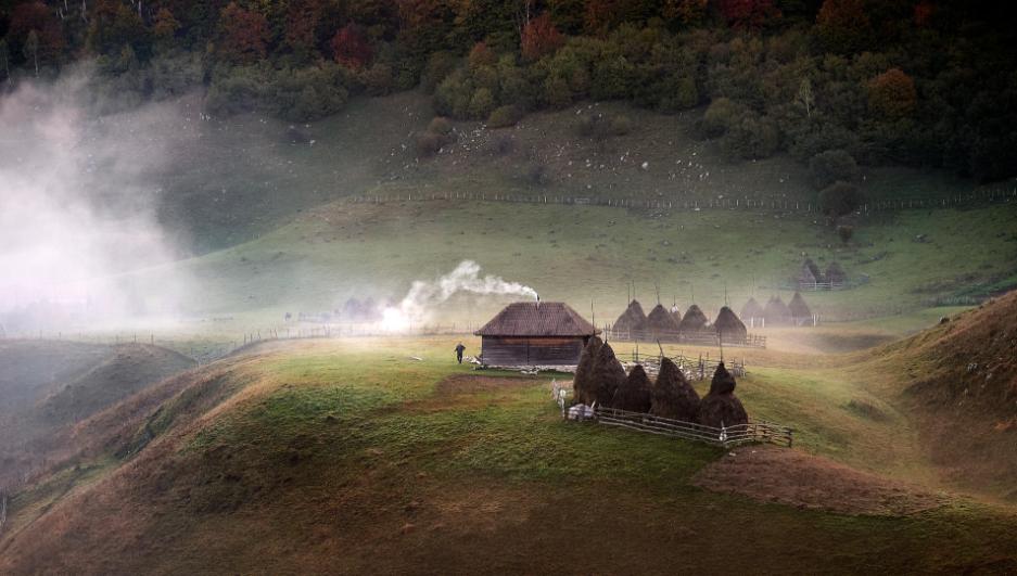 Cea mai frumoasă fotografie votată de cititorii The Telegraph, un peisaj rural din România