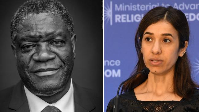 Premiul Nobel pentru Pace 2018 a fost câștigat de un medic și o tânără victimă a abuzurilor ISIS