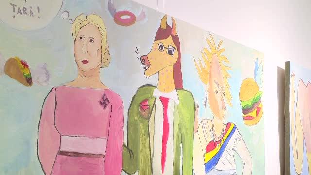 Tabloul controversat cu Viorica Dancila, pictat de un copil. Unde a fost expus