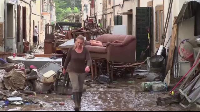 O ploaie de câteva ore a făcut prăpăd în Mallorca: