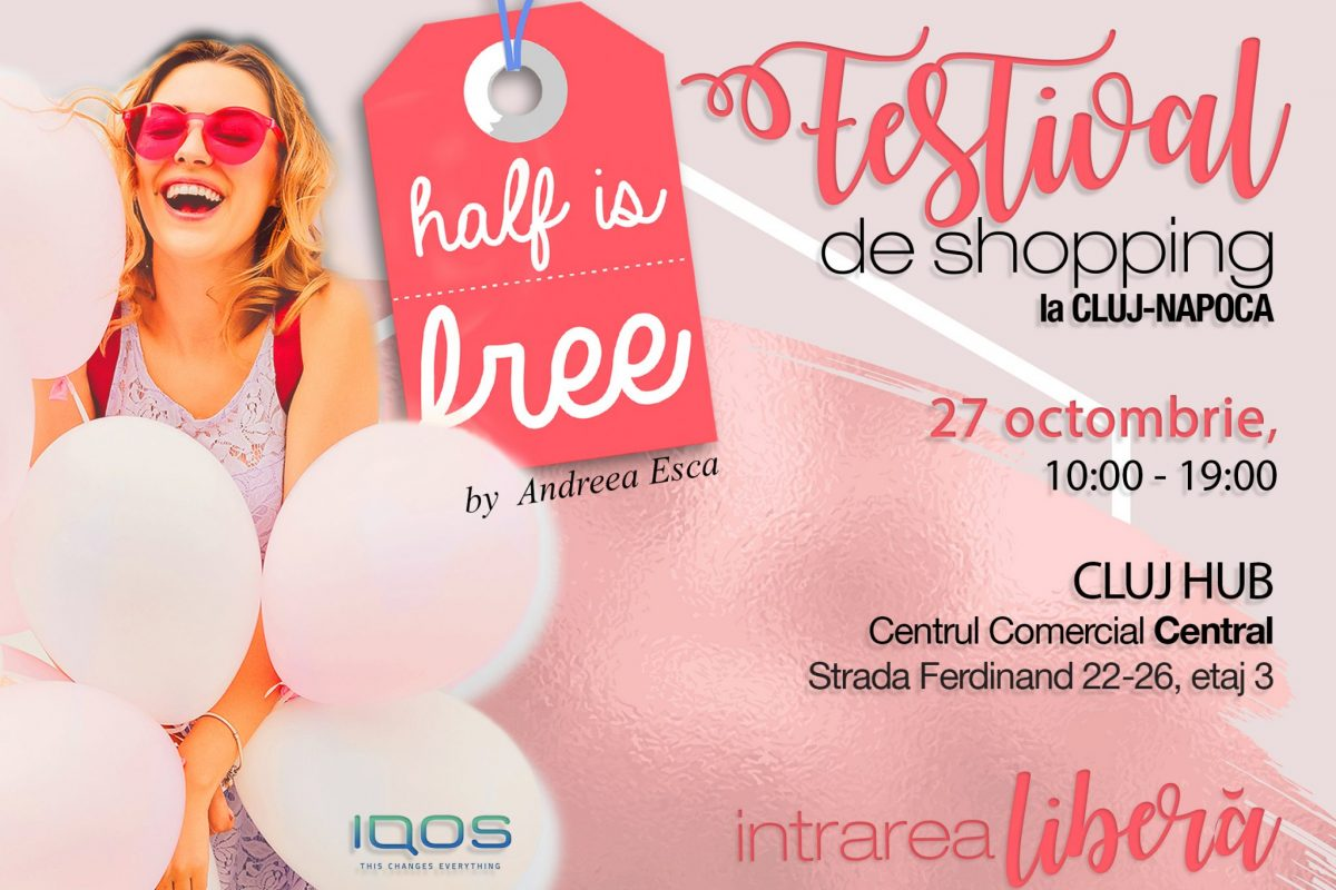 Half Is Free revine la Cluj, pe 27 octombrie, într-o nouă locație – Cluj Hub